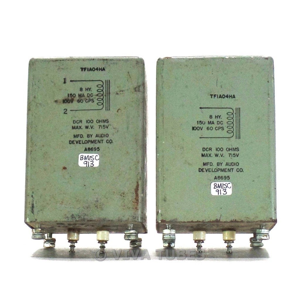 Details about Vintage Pair of ADC Audio Development TF1A04HA Choke  Transformers 8H 150mA