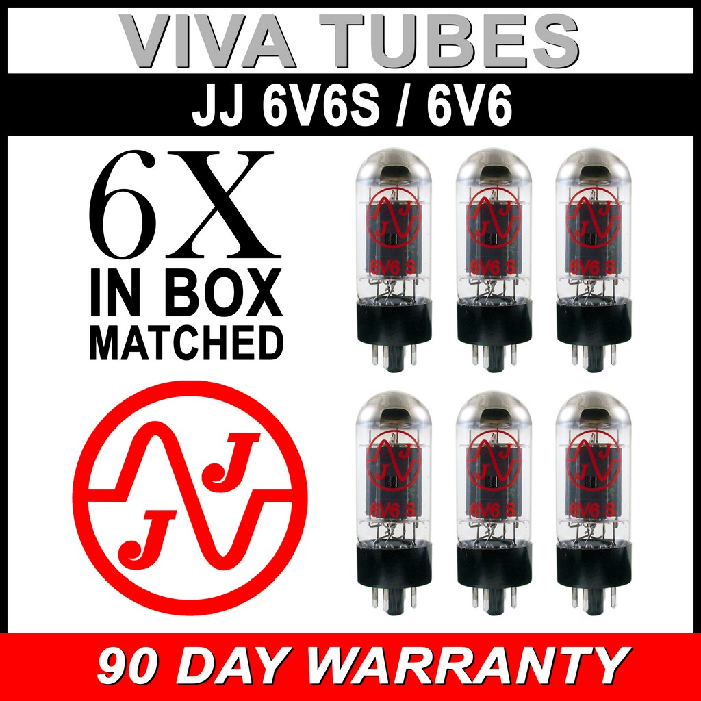 Brand New Tung-Sol Reissue 6V6 6V6GT Plate Current Matched Quad Vacuum Tubes 4