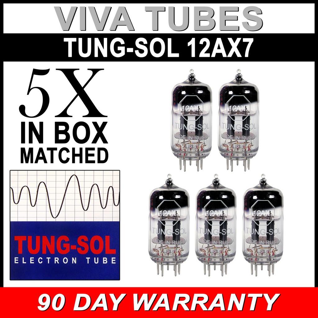 Authorized Dealer New Gain Matched Trio Tung-Sol Reissue 12AX7 ECC83 Tubes 3