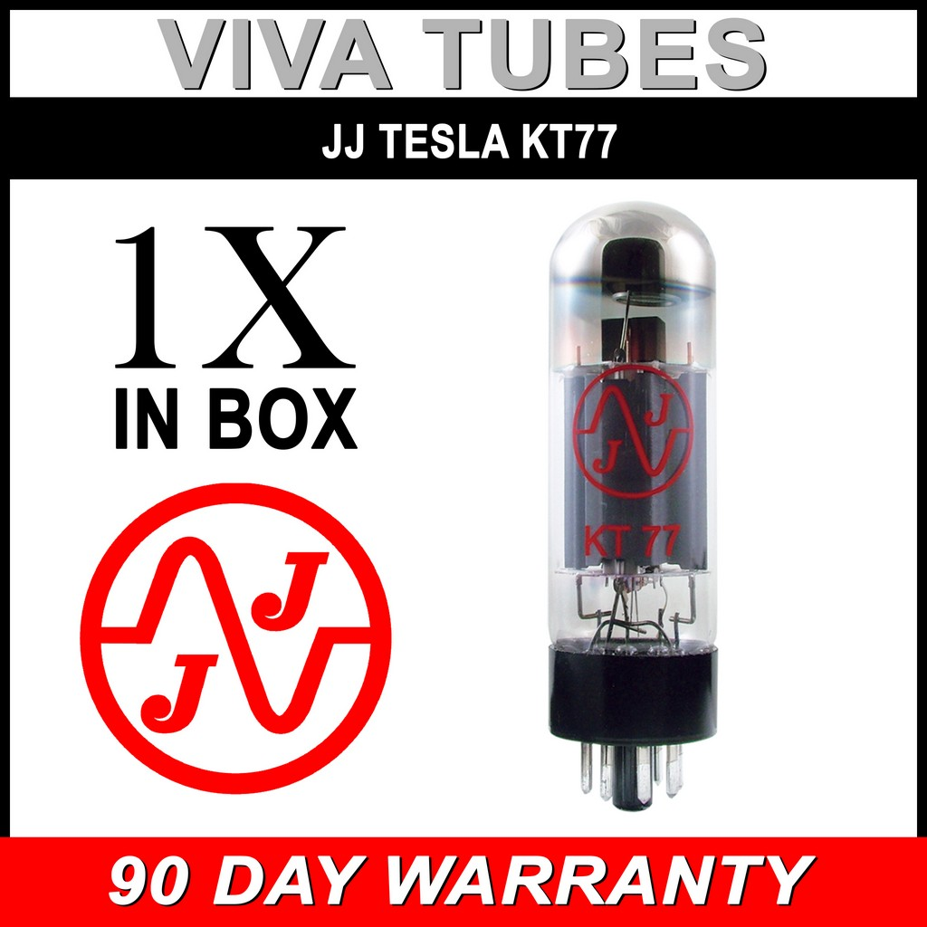 2 Brand New Plate Current Matched Pair JJ Tesla KT77 Vacuum Tubes KT-77