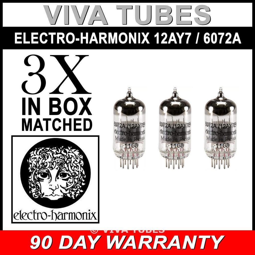 Brand New Gain Matched Quad 6072A Vacuum Tubes Electro-Harmonix 12AY7 4