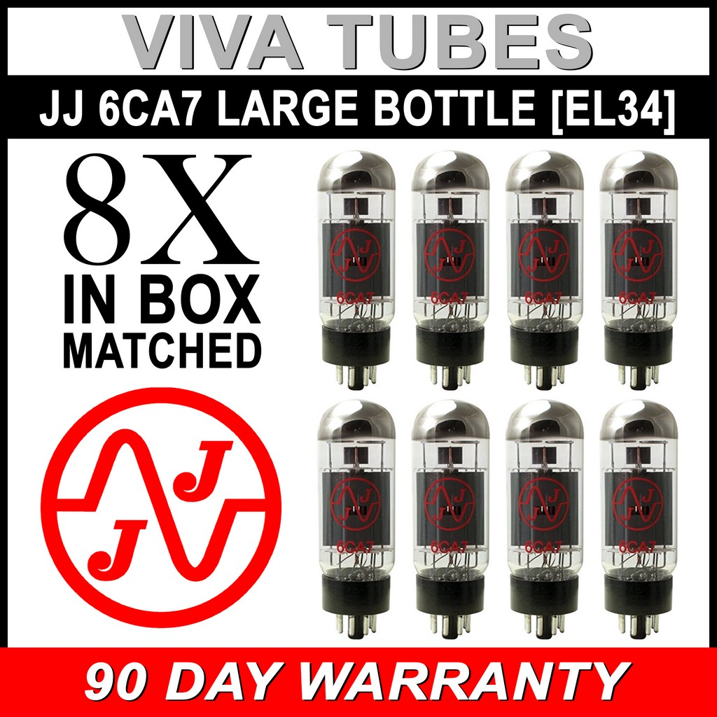 Brand New Matched Octet JJ EL34 6CA7 Fully Tested Guaranteed Vacuum Tubes 8