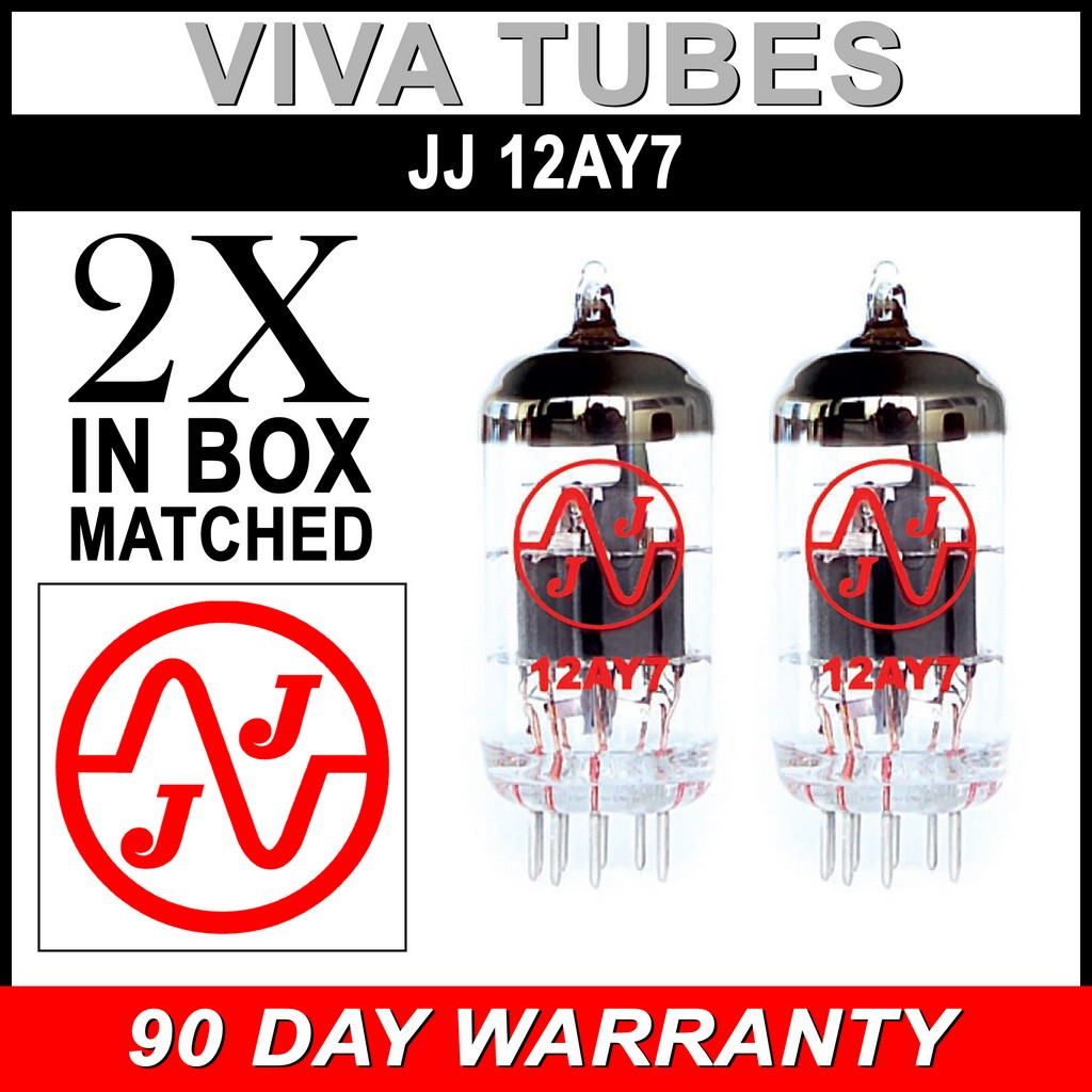 6072A Gain Tested Vacuum Tube JJ 12AY7 Brand New